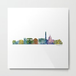Washington City Skyline Metal Print