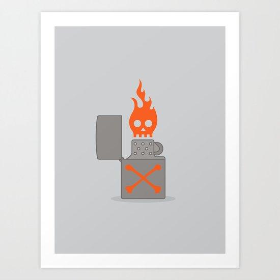 Unfriendly Fire Art Print