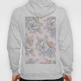 Succulent Watercolor Pattern #29 Hoody