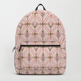 Jaime's Blush and Gold Diamonds Backpack
