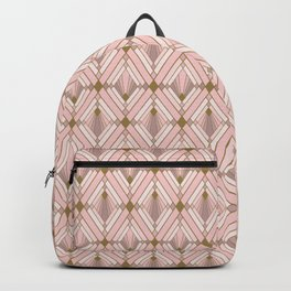 Jaime's Blush and Gold Diamonds Backpack
