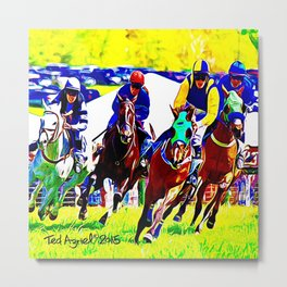 Race To The Finish Metal Print