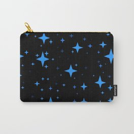Bright Blue  Stars in Space Carry-All Pouch