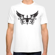 coalition SMALL White Mens Fitted Tee