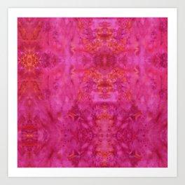Pink Bohemian Batik Art Print