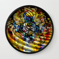 asia Wall Clocks featuring Asia by pystali