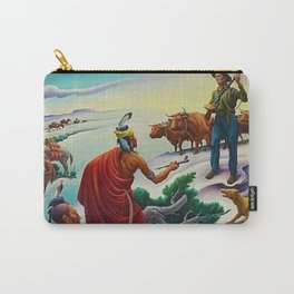 Classical Masterpiece 'American West from Native Americans Perspective' by Thomas Hart Benton Carry-All Pouch