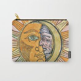 Sun and Moon Face Carry-All Pouch