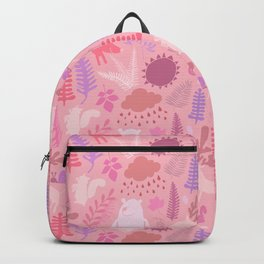 PNW Forest in Peony Pink Backpack