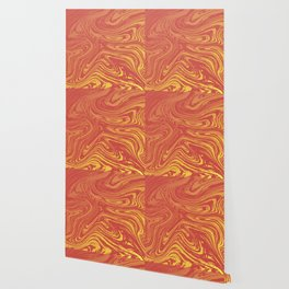 Red marble pattern with golden tint Wallpaper