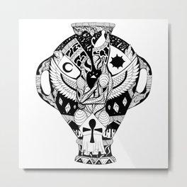Divine Lovers Amphora Metal Print