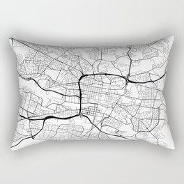 Glasgow Map, Scotland - Black and White Rectangular Pillow