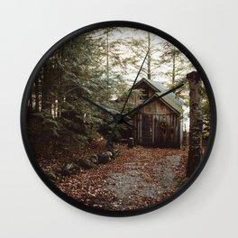 Cabin on Pleasant Lake Wall Clock