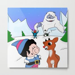 Hanging with Rudolph Metal Print