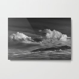 Billowing Clouds over Mountains and Hills near Gardiner Montana Metal Print