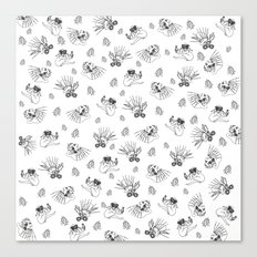 Pet Fish - White print Canvas Print