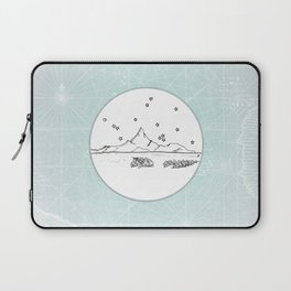 Bora Bora Island, French Polynesia Skyline Illustration Drawing Laptop Sleeve