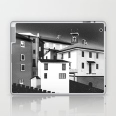 Castles at Night (B&W) Laptop & iPad Skin