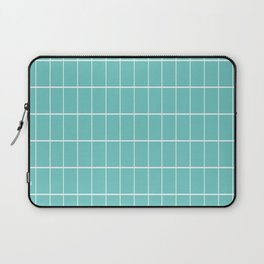 Gorgeous Green Grid Laptop Sleeve