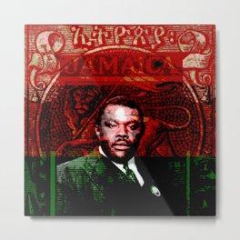 Marcus Garvey Black Nationalist Design Merchandise Metal Print
