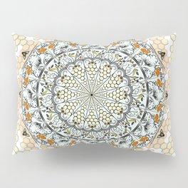 Overlapping Bee Mandala (Color) Pillow Sham