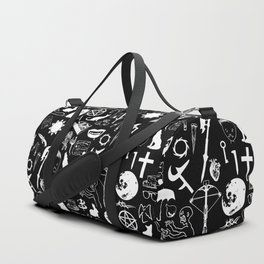 Buffy Symbology, White Duffle Bag