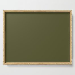 Garden Song ~ Olive Green Serving Tray