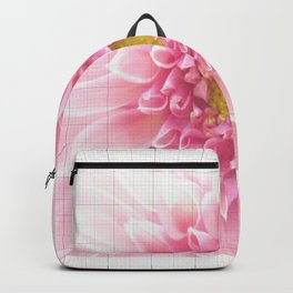 EUCLID pretty bright petal pink pixelated flower with graph detail Backpack