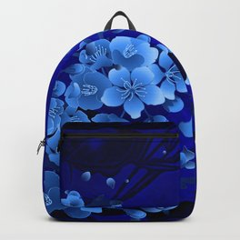 Cherry blossom, blue colors Backpack