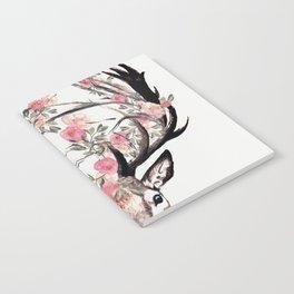 Deer and Flowers Notebook