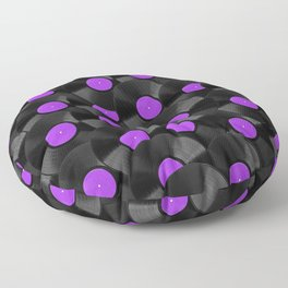 Vinyl Records Pattern (Purple) Floor Pillow