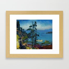 """George Wesley Bellows """"Evening Blue (Tending the Lobster Traps. Early morning)"""" Framed Art Print"""