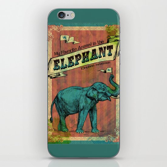 My Favorite Elephant iPhone & iPod Skin
