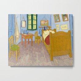 The Bedroom in Arles by Vincent van Gogh, 1888 Metal Print
