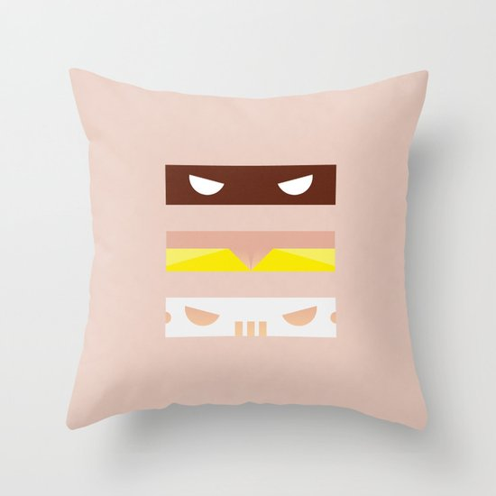 Teenage Minimal Ninja Good Guys Throw Pillow