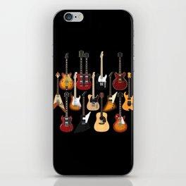 Too Many Guitars! iPhone Skin