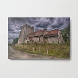 Hamsey Old Church Metal Print