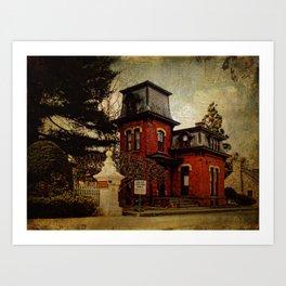 Cemetery Gatehouse Art Print