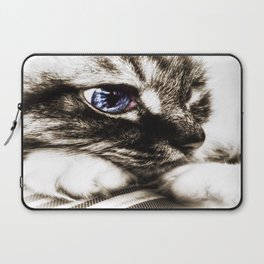 Hello there, Blue Eyes.. Laptop Sleeve