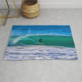 Long Shutter Speed Surfer Rug