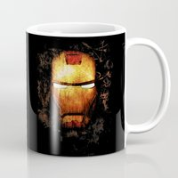iron man Mugs featuring Iron Man by Sirenphotos