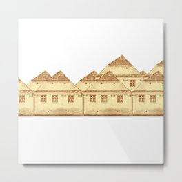 Village houses in Transylvania Metal Print
