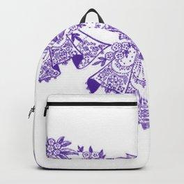 Vintage Lace Purple Hankies Backpack
