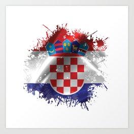 Croatian Splatter Art Print
