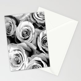 Black and White Roses Stationery Cards