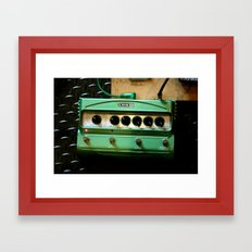 Green Delay Framed Art Print