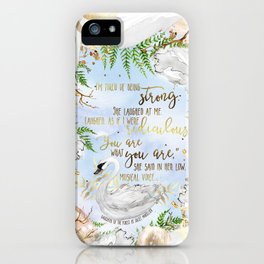 Daughter of the Forest - You Are What You Are iPhone Case