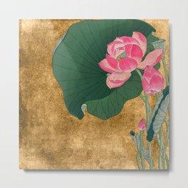 Nénuphars en rose Metal Print