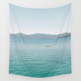 Summer Lake Day Wall Tapestry