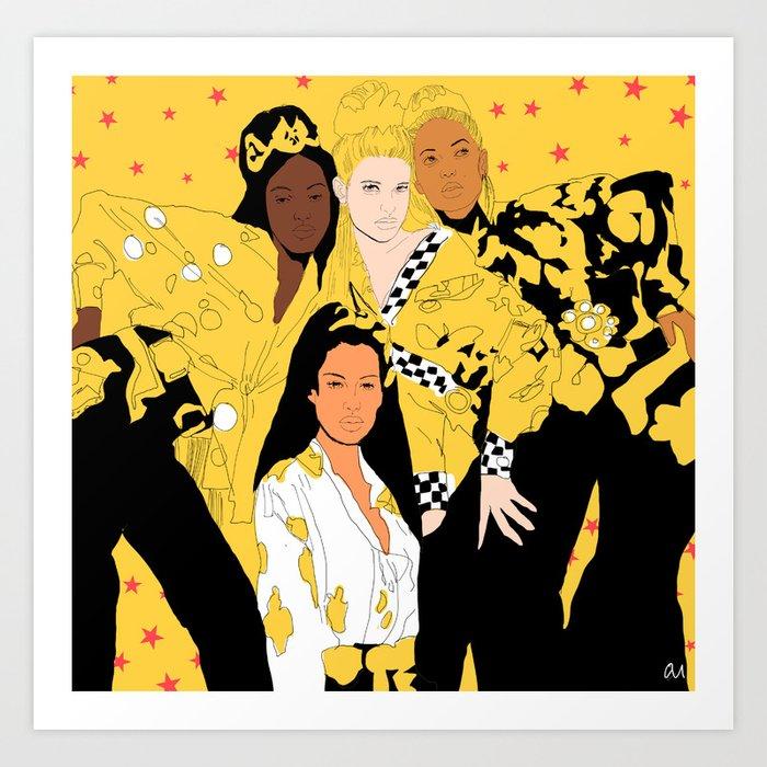Women of Versachi Art Print